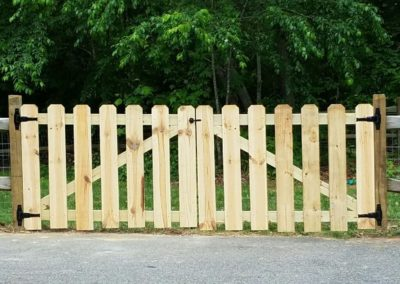 Double Drive Wooden Gate