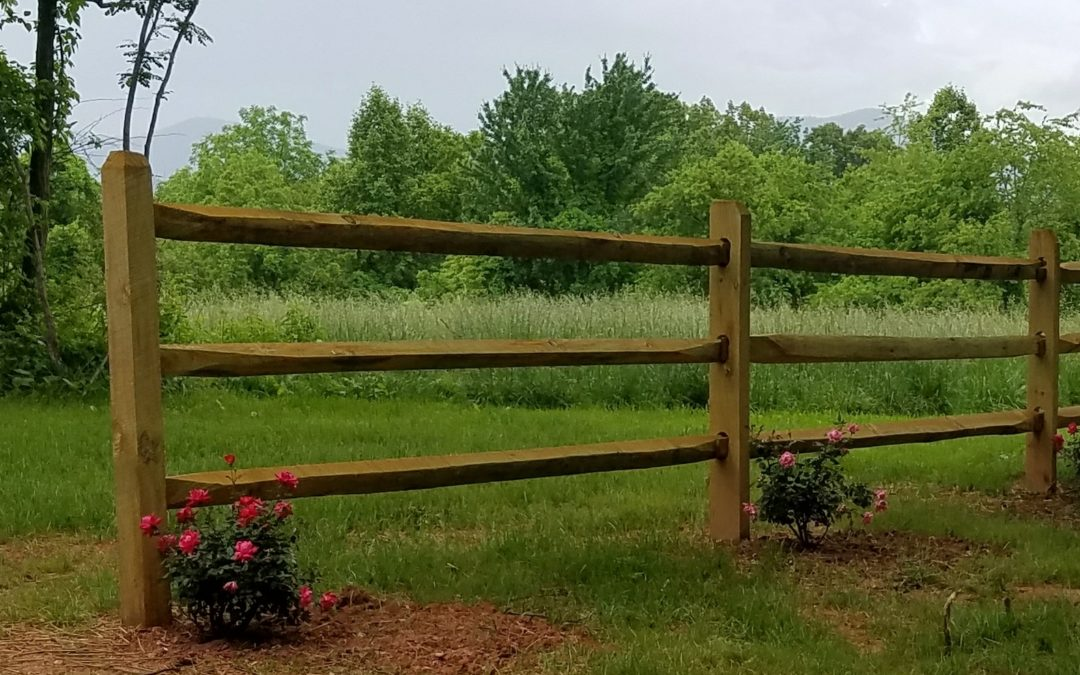 Three Tier Split Rail Fence