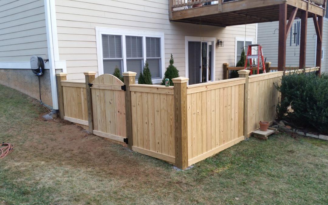 Perimeter Wood Fence